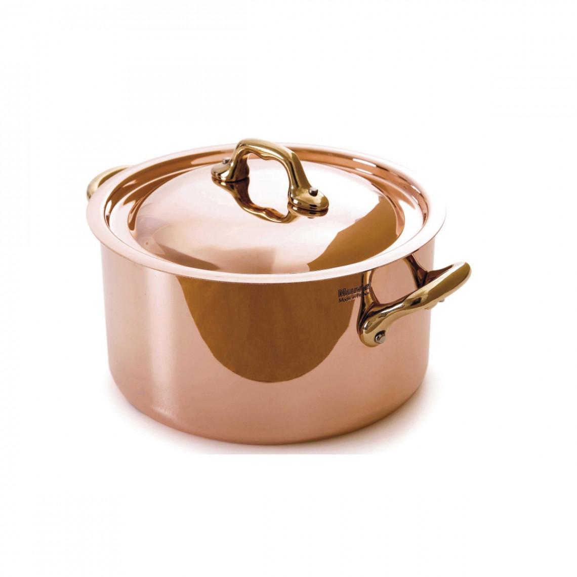 Cocotte cuivre avec couvercle  (4 l)