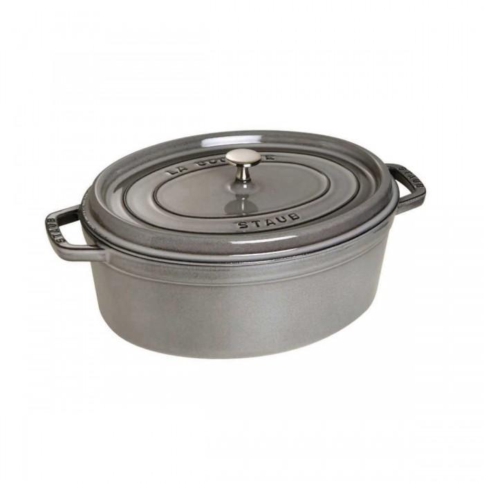 Cocotte STAUB ovale en fonte gris graphite (6 l )