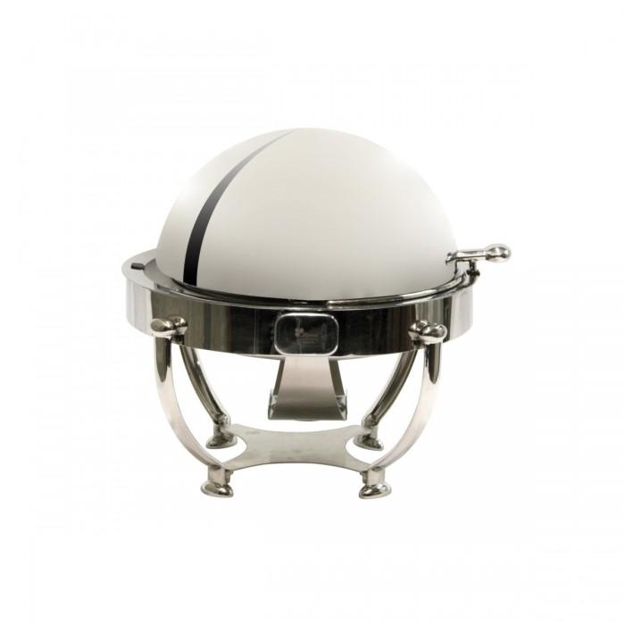 Chafing dish Globe Roll Top en inox (Ø45) avec 2 gels 200g