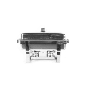 Chafing dish en inox avec couvercle amovible (0
