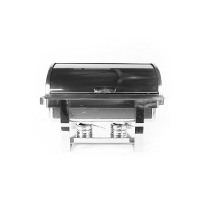 Chafing dish Roll Top en inox avec couvercle coulissant (0