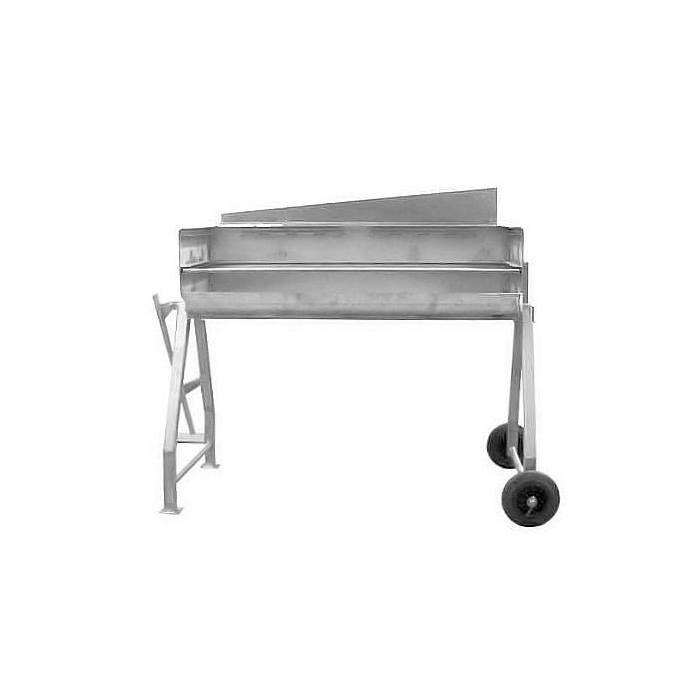 Barbecue inox sur roues avec 2 hauteurs cuisson