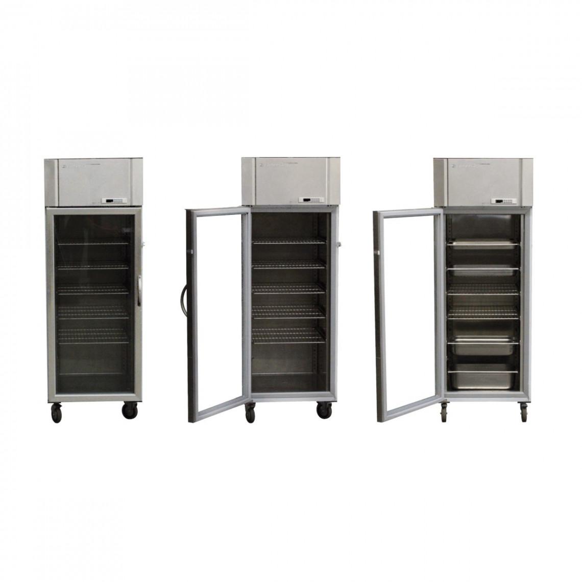 Réfrigérateur porte vitrée pour bac gastro (avec 5 grilles 65 x 52 cm)