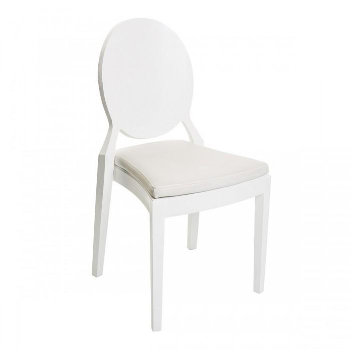 Chaise Coppelia médaillon hêtre blanche (assise à choisir en plus)