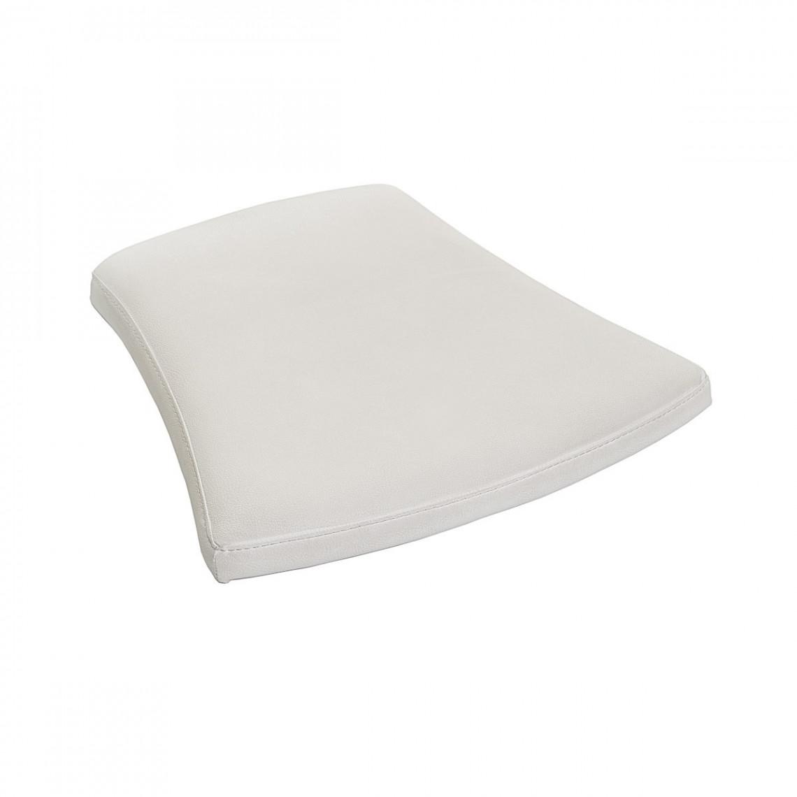 Assise simili cuir blanche pour chaise Coppelia (M1)