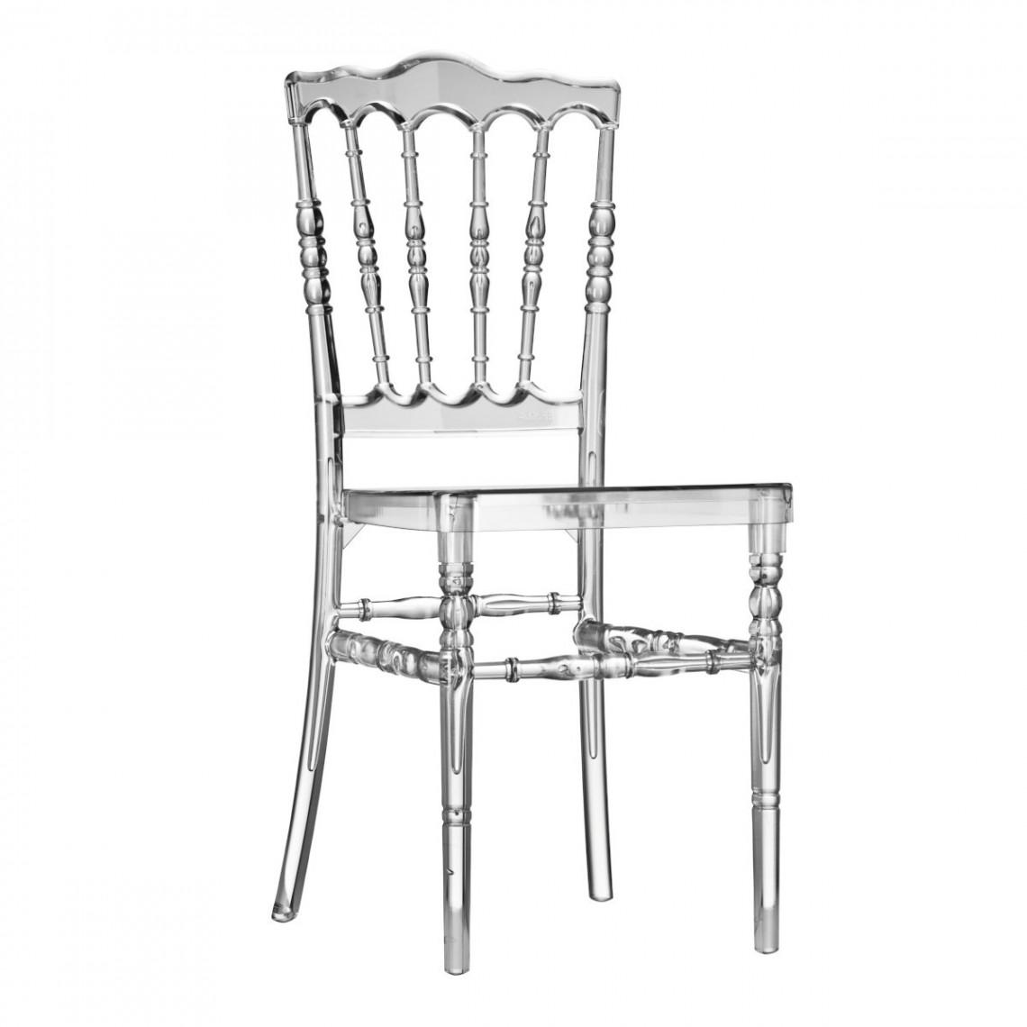 Chaise Napoléon III transparente (assise à choisir en plus)