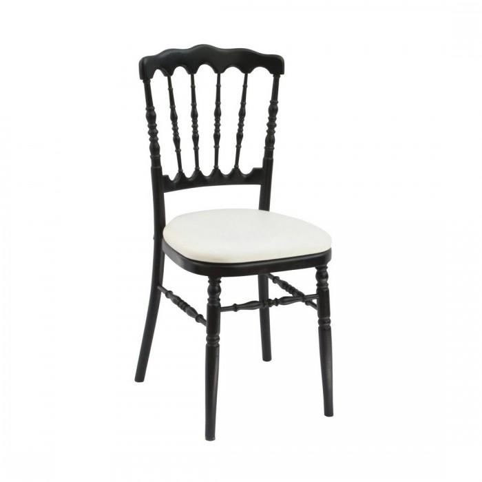 Chaise Napoléon III noire (assise à choisir en plus)