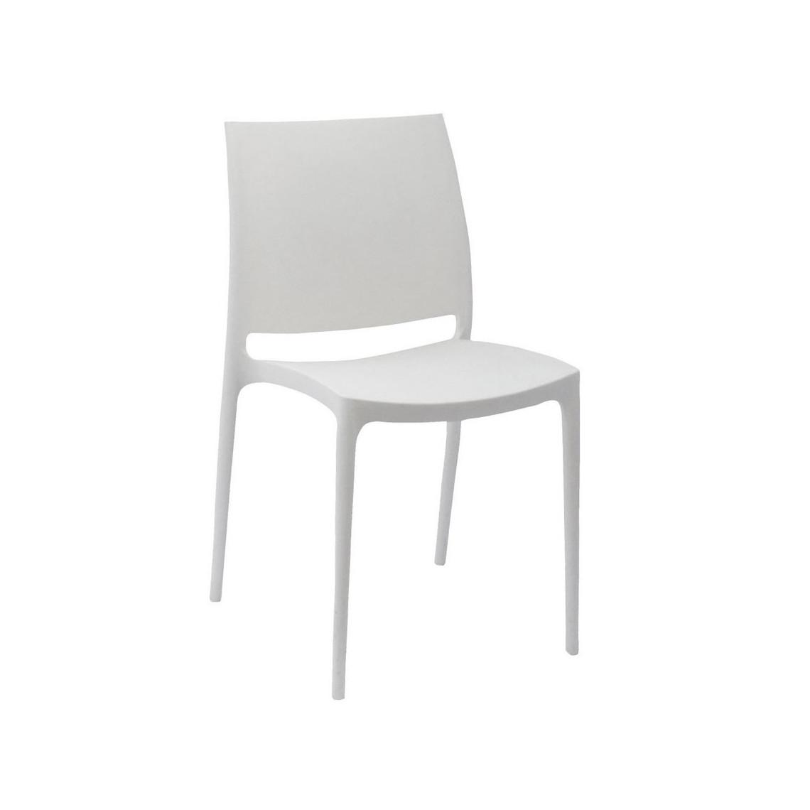 Chaise Paloma (classée au feu M3) ivoire