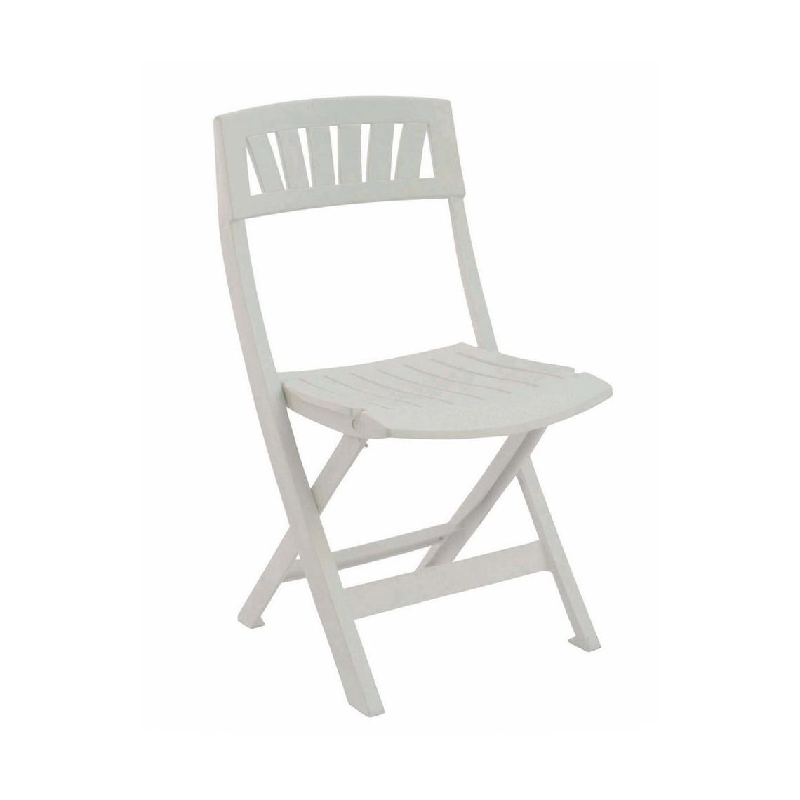 Chaise blanche à lattes