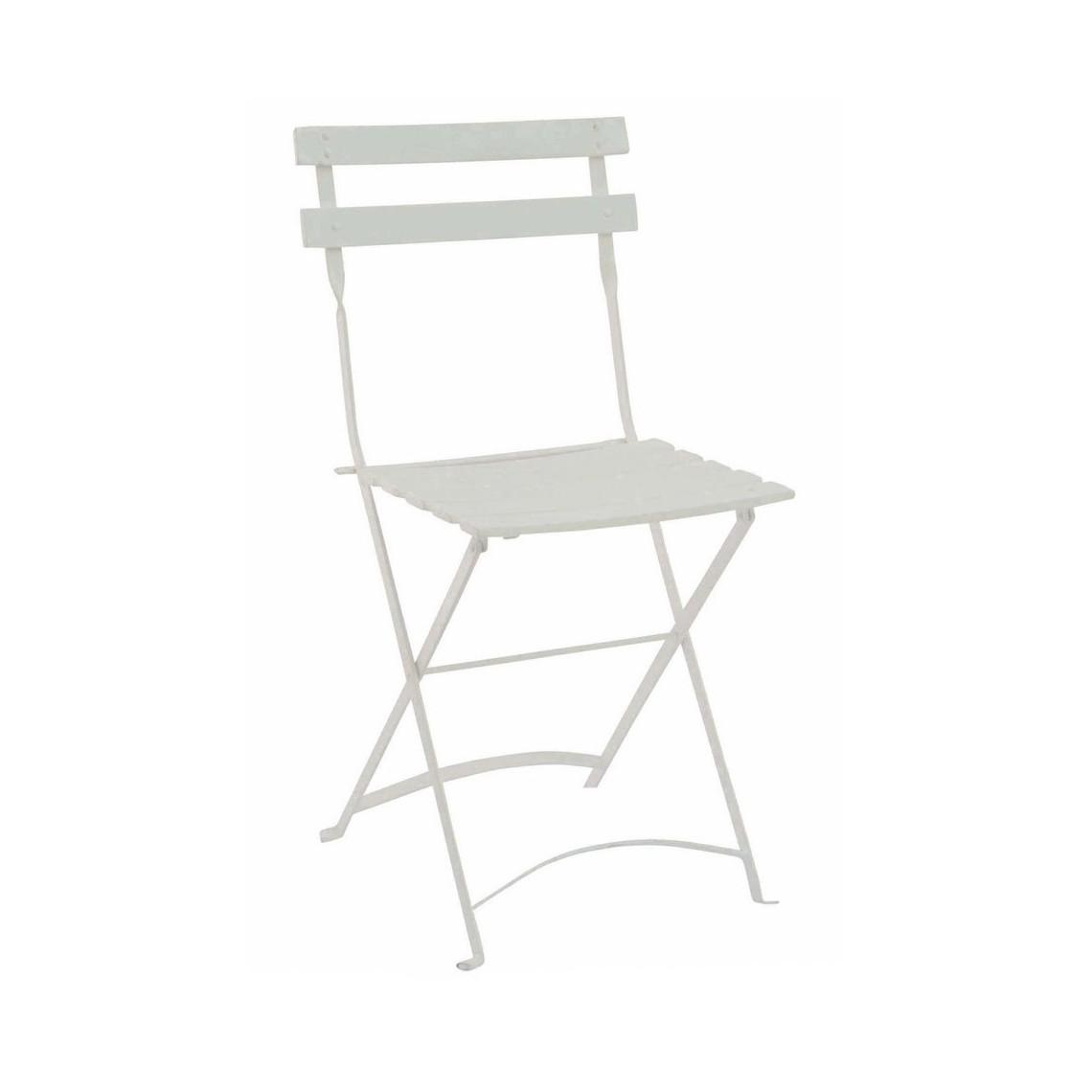 Chaise Capri à lattes blanche