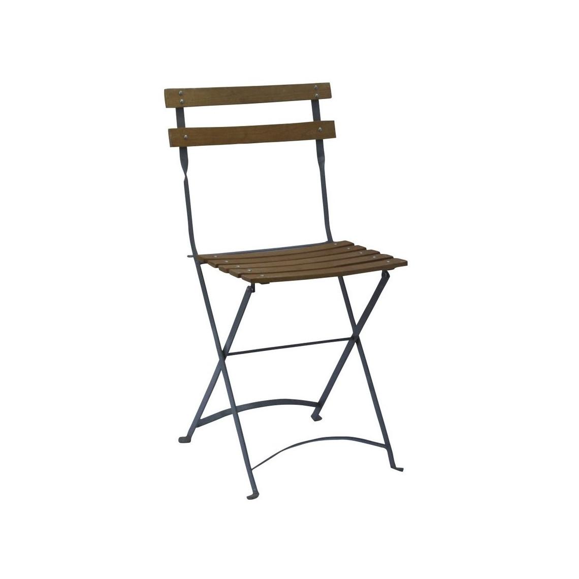 Chaise Capri à lattes bois naturel