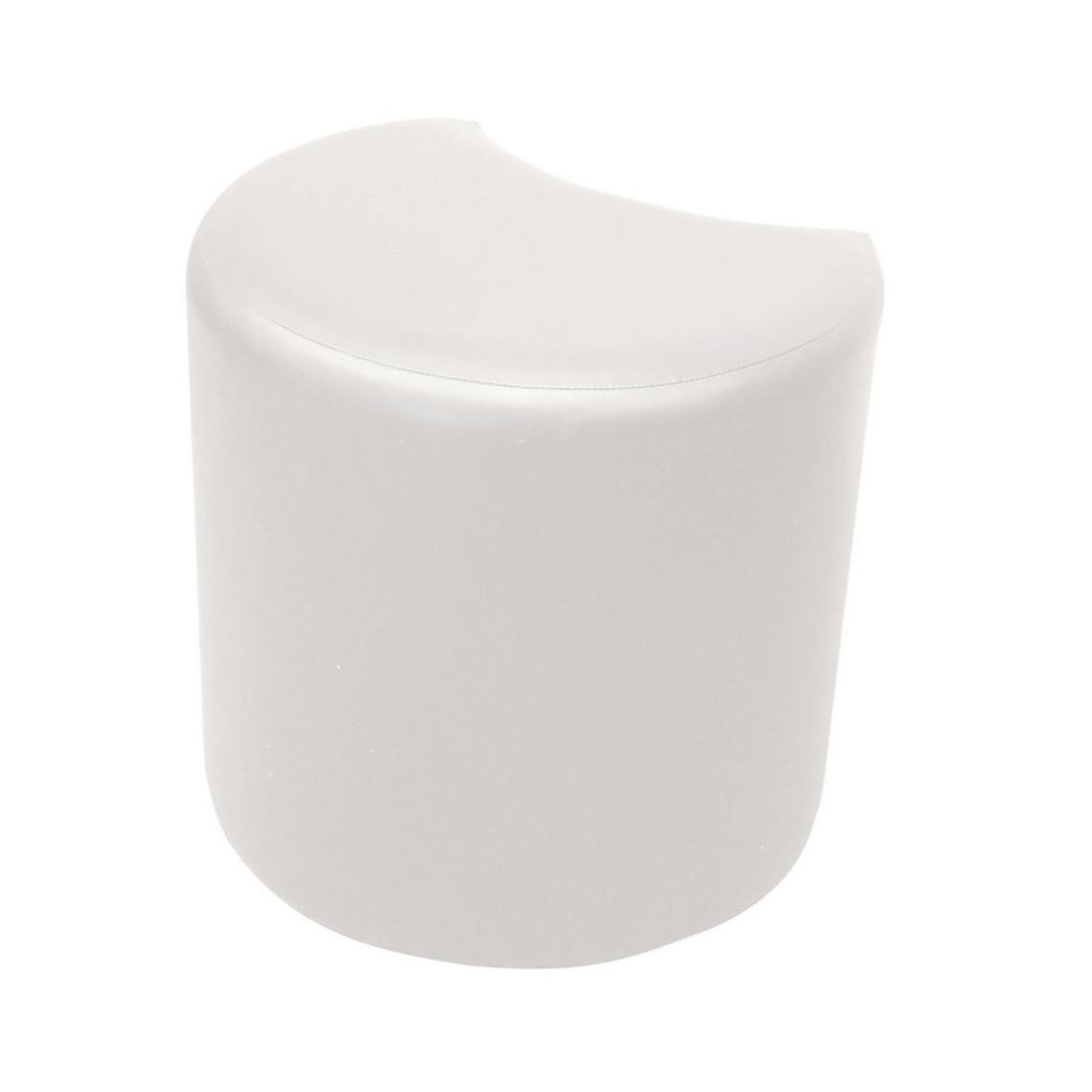 Pouf Cosy carré simili cuir blanc (100 x 100 cm)