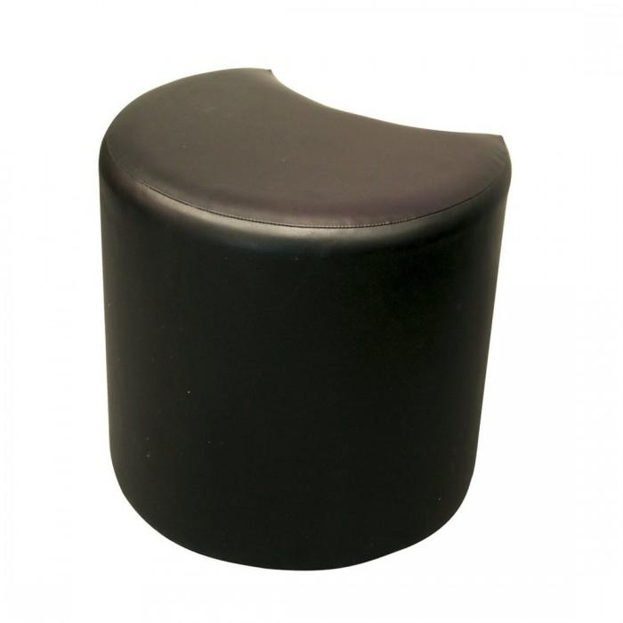 Pouf Cosy carré simili cuir noir (100 x 100 cm)