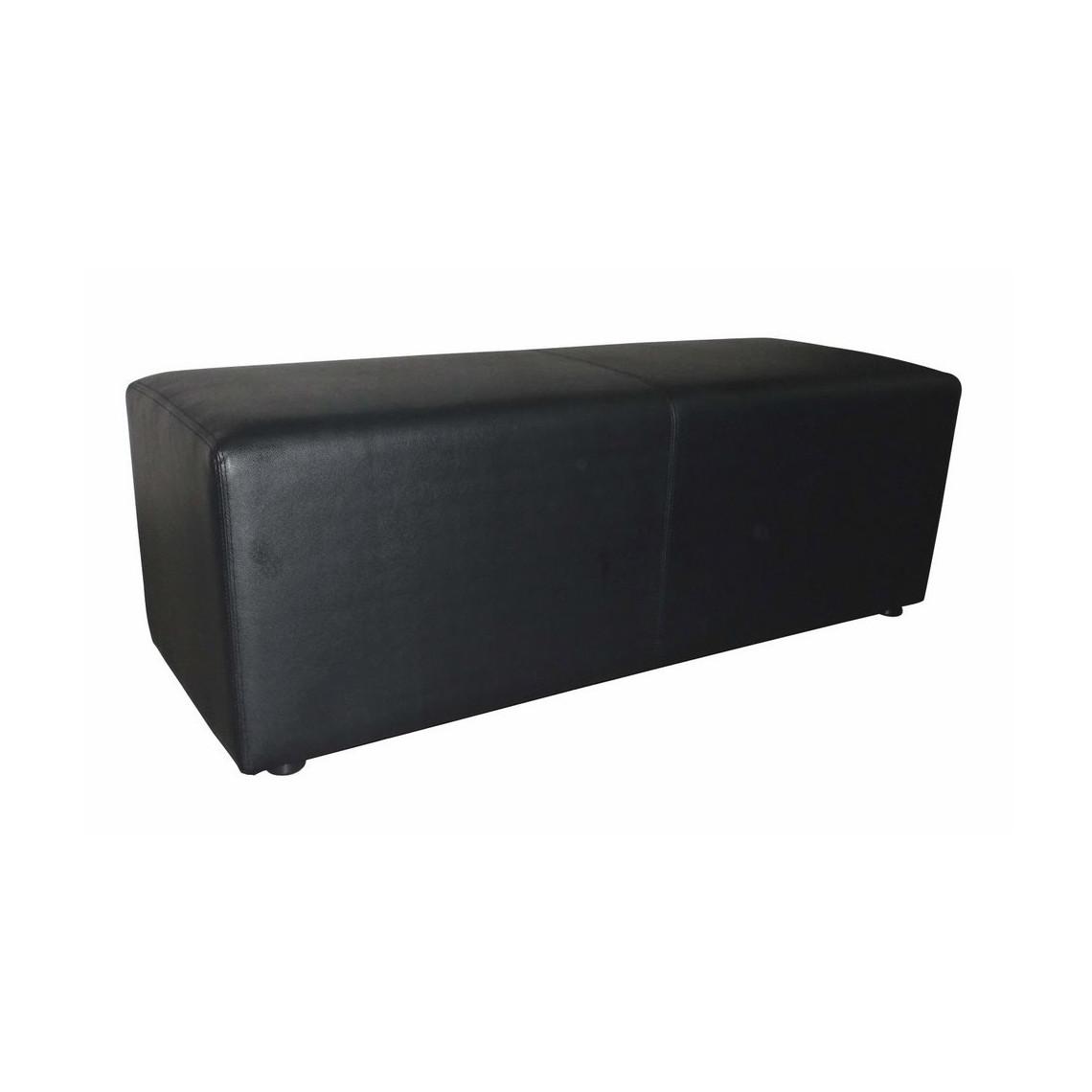 Banquette Cosy simili cuir noire (120 x 40 cm)