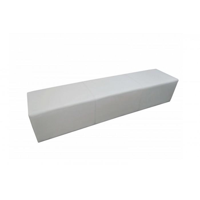 Banquette Cosy simili cuir blanche (200 x 40 cm)