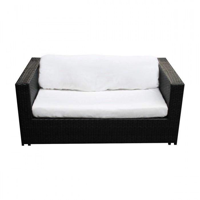 Canapé Cosy tressé noir