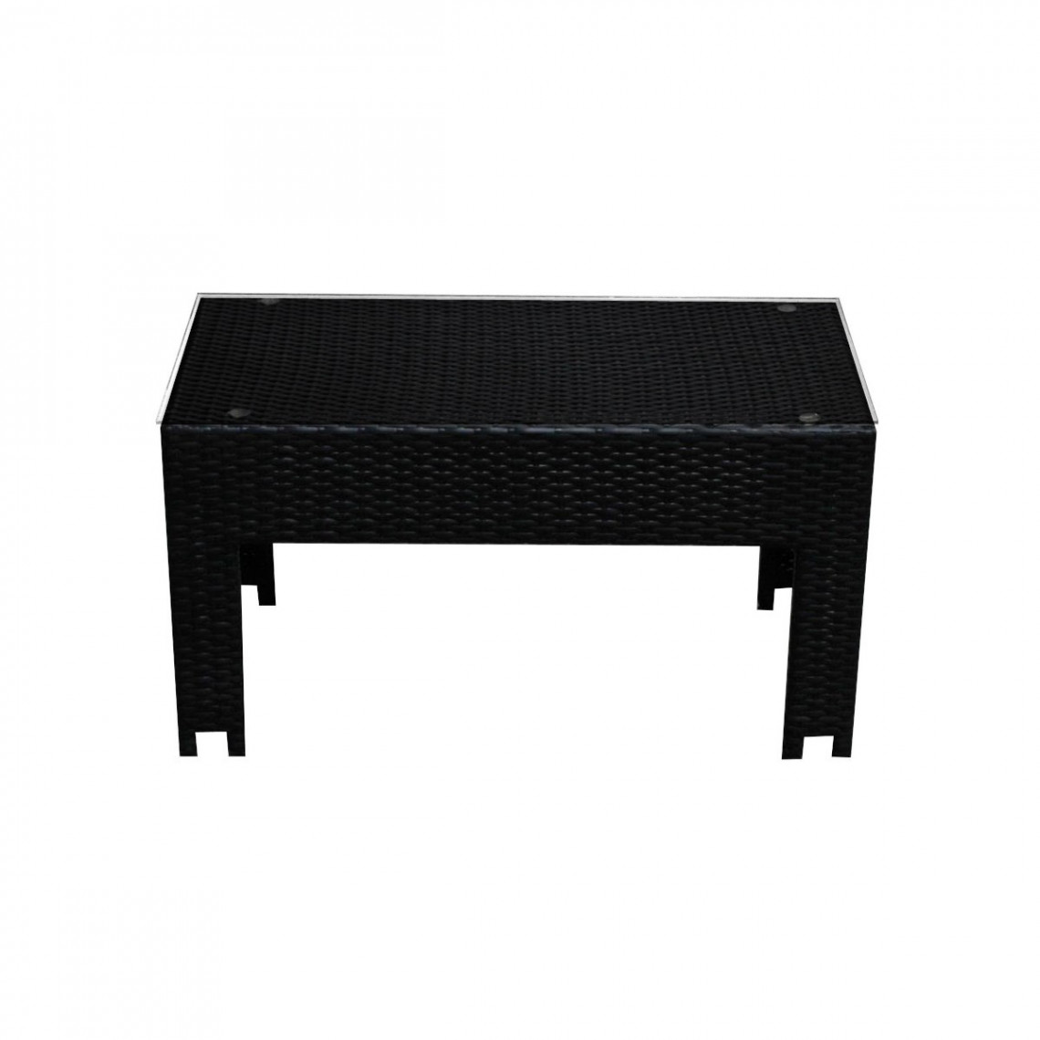 Table basse Cosy tressé noir