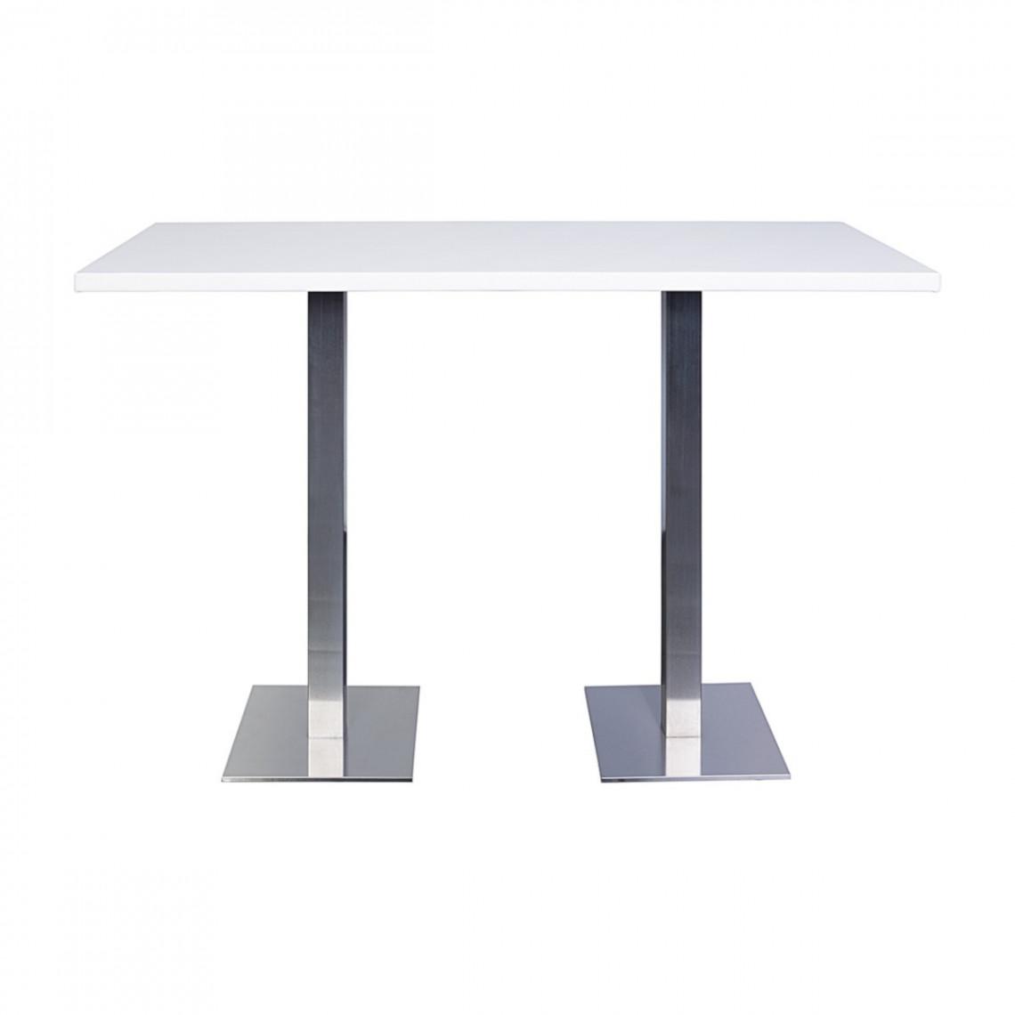 Table haute City blanche (180 x 80 cm)