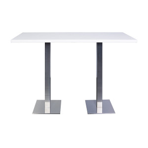 Table haute City blanche (180 x 80 cm)