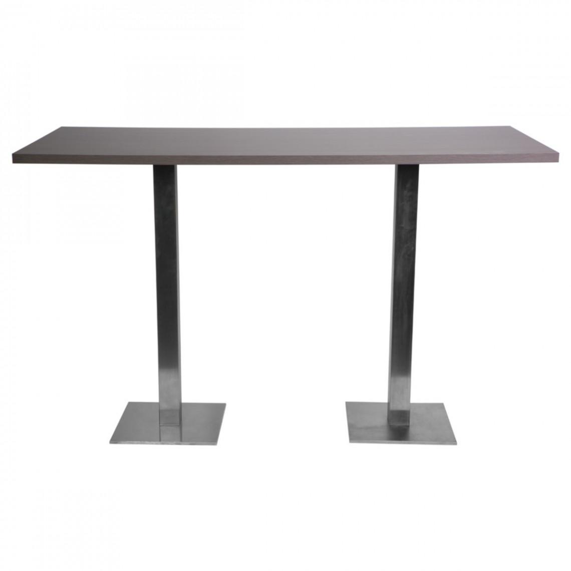 Table haute City wengé (180 x 80 cm)