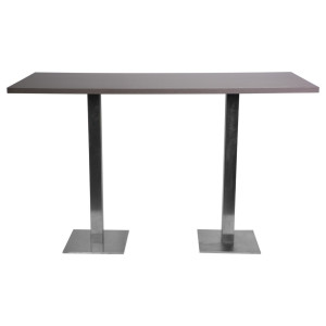 Table haute City wengé (180 x 80 cm)