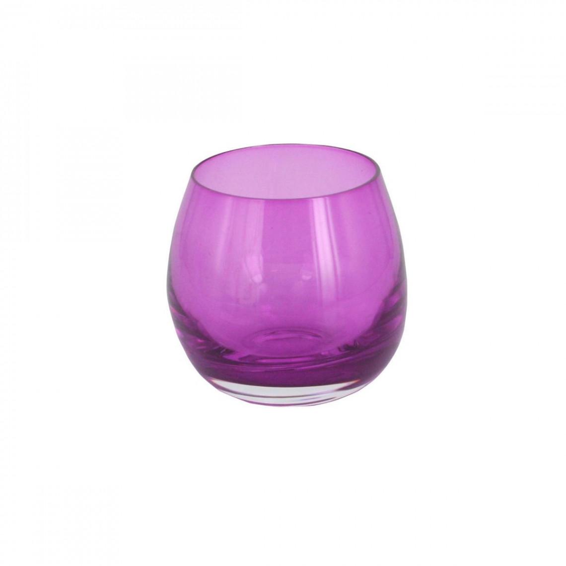 Verrine Sphère violet translucide (15 cl)