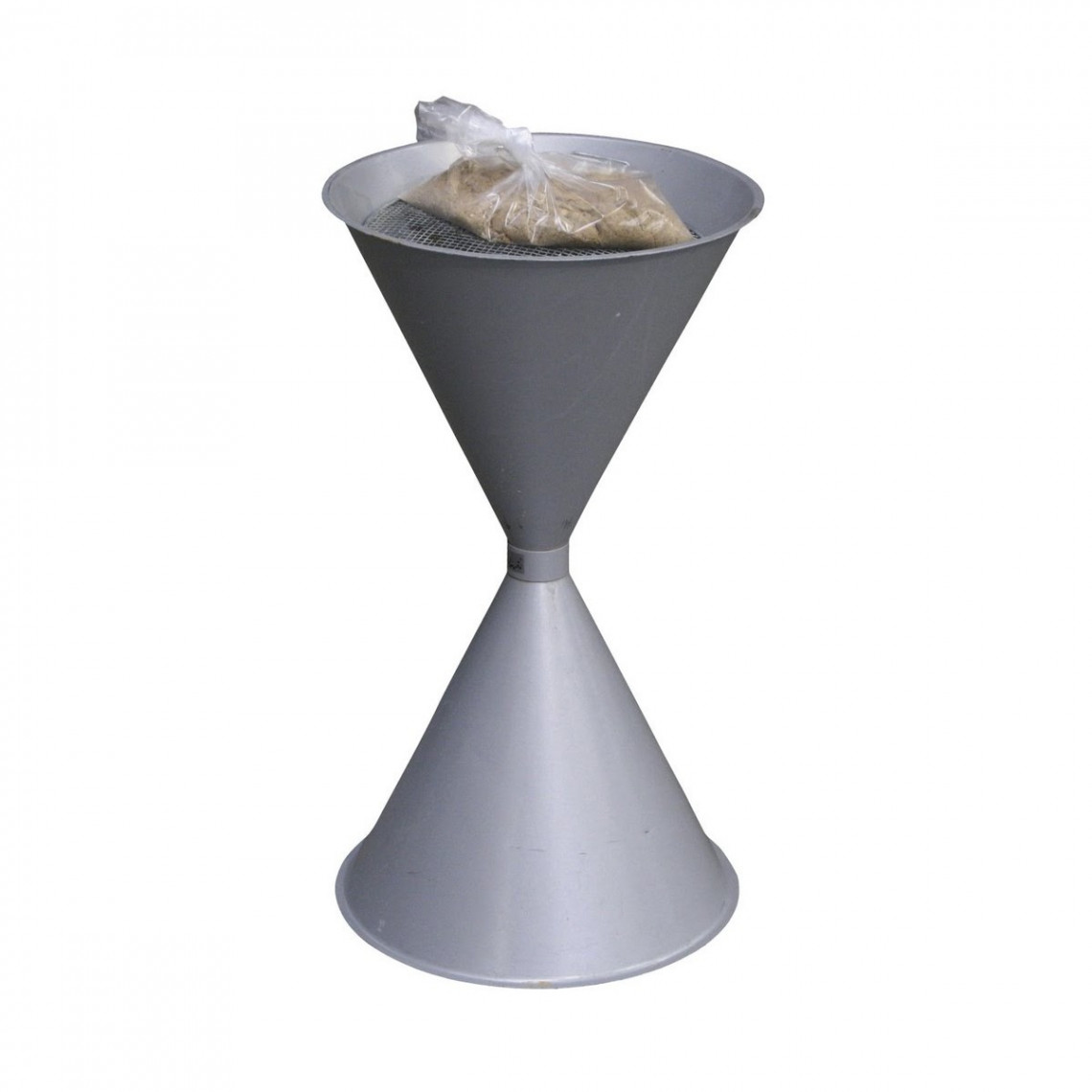 Cendrier d'extérieur en alu gris avec sable